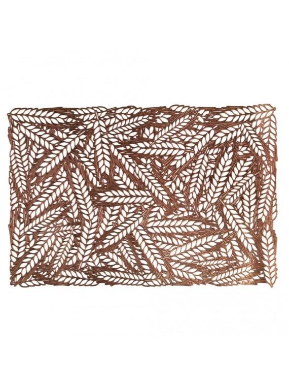 Tovaglietta plastica spighe rame rettangolare cm 29 5x44