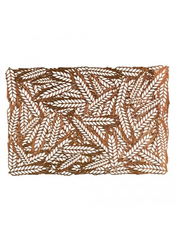 Tovaglietta plastica spighe oro rettangolare cm 29 5x44
