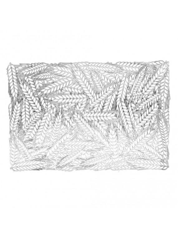 Tovaglietta plastica spighe argento rettangolare cm 29 5x44