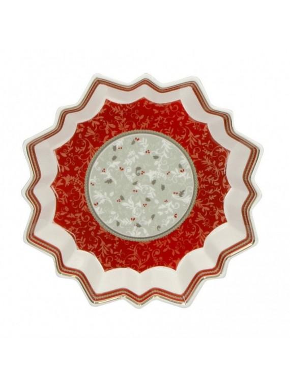 Brandani Vassoio stella connubio porcellana