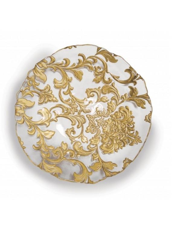 Brandani Ciotola damasco gold cm 21 vetro