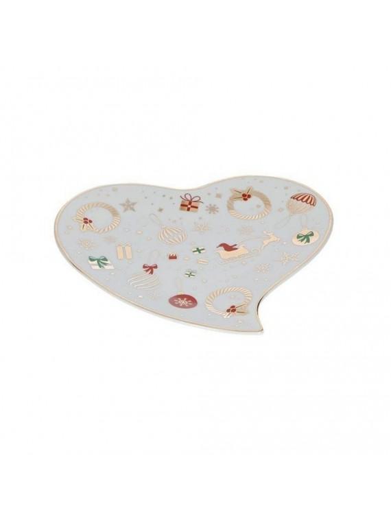Brandani Vassoietto cuore alleluia porcellana texture