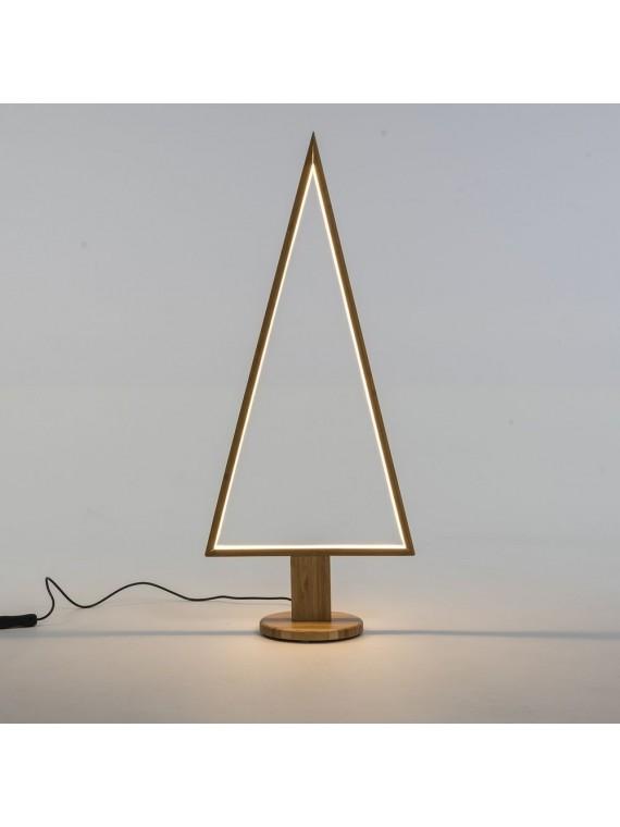 ALBERO CON BASE LEGNO NATURALE 75 CM CON LED