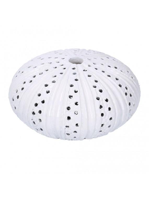 Lanterna ceramica mare riccio bianco ton do cm17/23h10 2