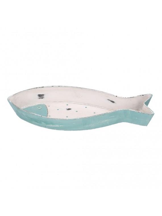 Svuotatasche legno mare pesce bianco cm3 1 5x12h4