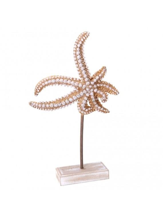 Stella marina legno mare bianco cm16x5h2 5