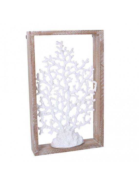Corallo legno mare bianco cm23x6h38