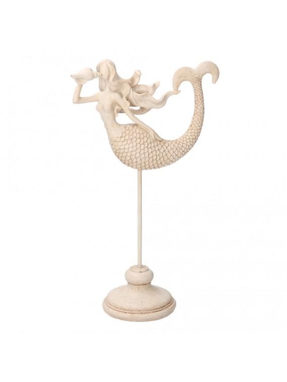 Sirena resina mare bianco cm10/22h33