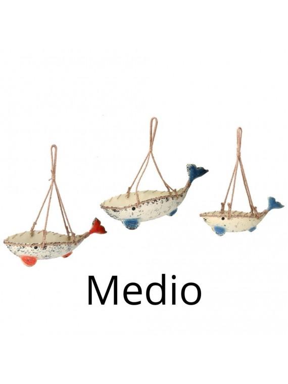 Portavaso metallo 1-3 balena cm99x22 86h45
