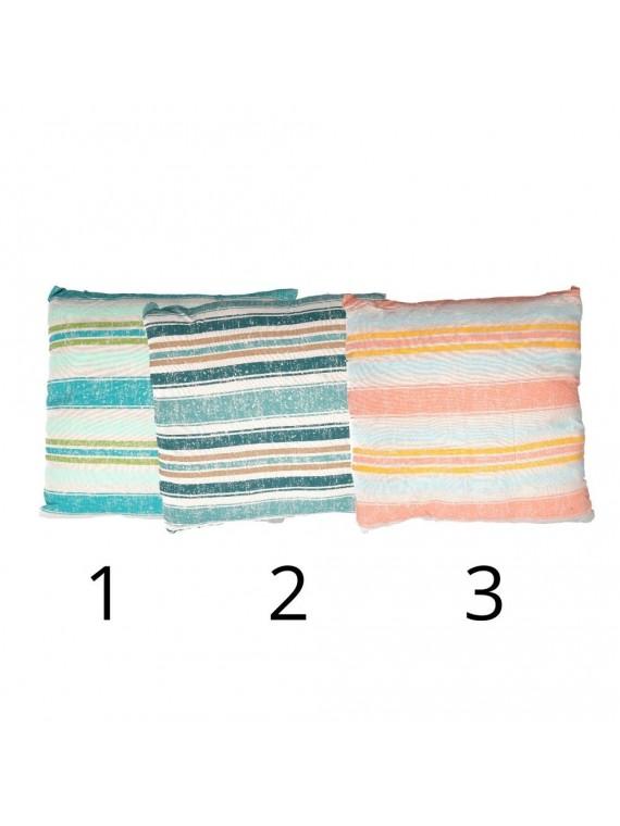 Cuscino tessuto mare quadro 3 assortitic m40x40