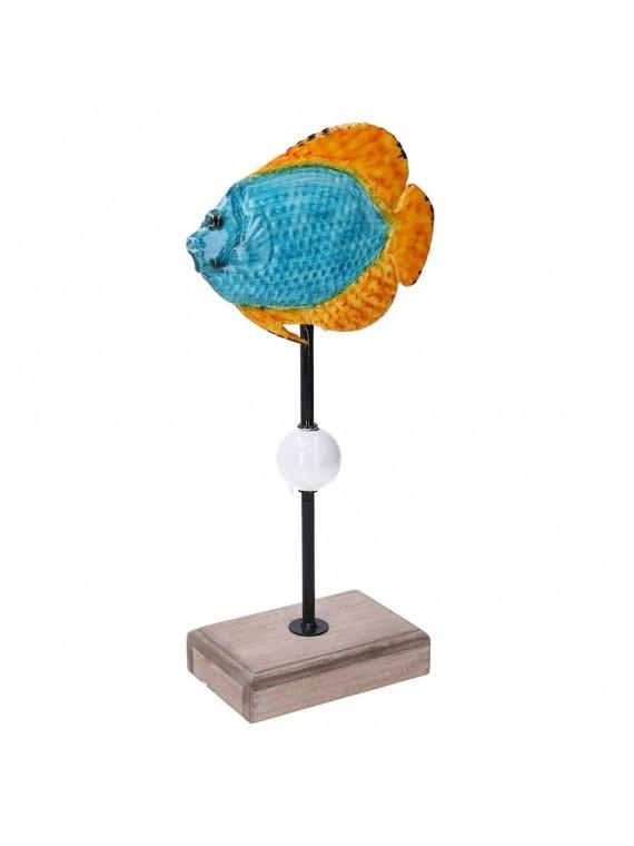 Pesce metallo mare azzurro cm17x8 3h34 3