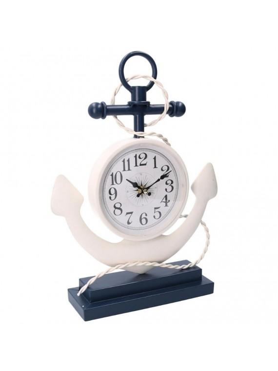 Orologio tavolo mare legno ancora cm29 5 x8 5h39 5