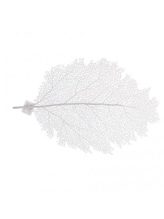 Sottopiatto poliestere corallo bianco cm56x36