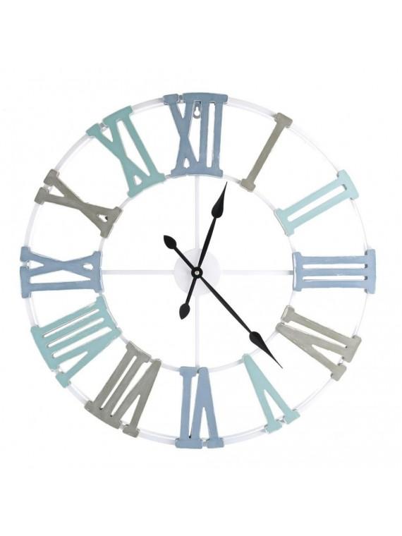 Orologio legno bianco cm58 5x4