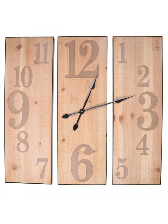 Orologio legno naturale cm60x60x3
