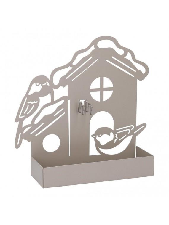 Portazampirone metallo casa tortora cm18 x5h17