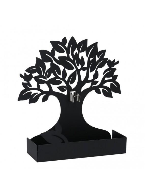 Portazampirone metallo albero nero cm17x 5h17 5