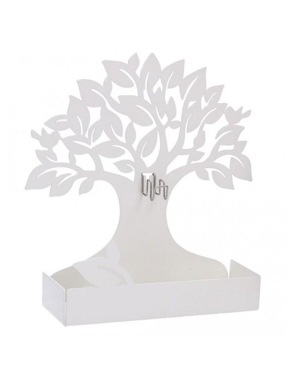 Portazampirone metallo albero bianco cm1 7x5h17 5