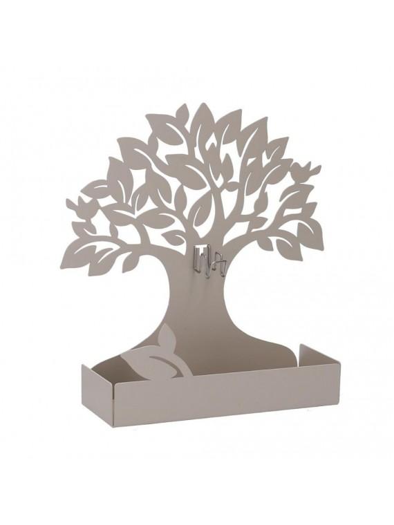 Portazampirone metallo albero tortora cm 17x5h17 5