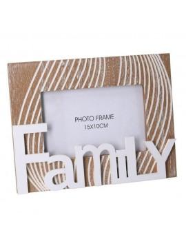 Portafoto legno scritta family