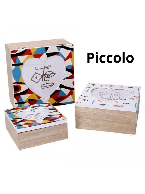 Scatola legno 1 multicolor quadro