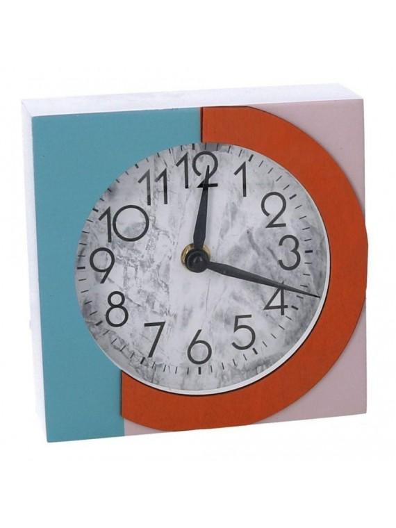 Orologio legno rosa e azzurro quadro