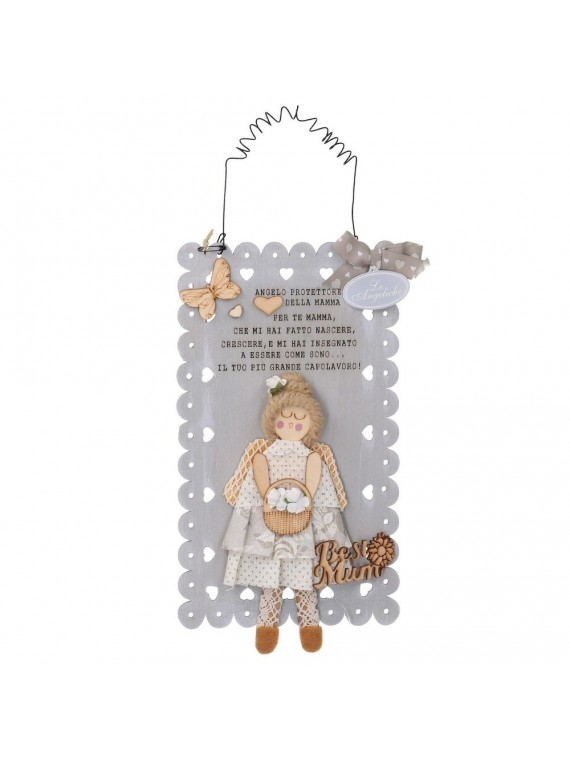 TARGHETTA ANGELO MAMMA CM 27 x 15