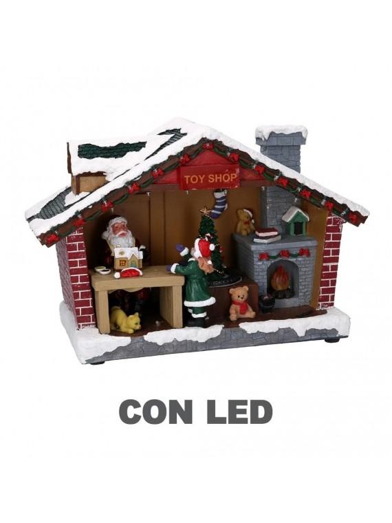 Decorazione resina led negozio di giocattoli cm 35 x 14 h23