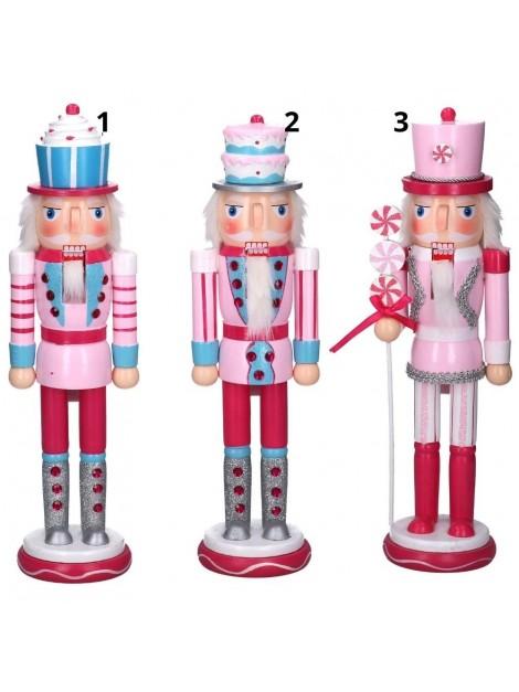 Soldatino legno 3 assortiti rosa cm h38