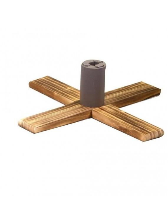 Base albero legno regolabile naturale quadro 3 misure cm 54 x 54 h16