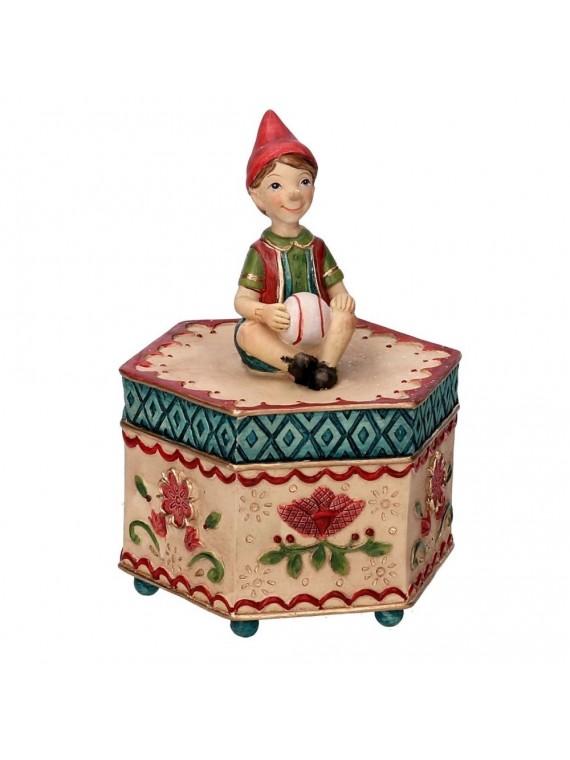 Carillon resina pinocchio rosso cm 12 x 10 5h 16 5
