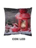Cuscino tessuto lanterna rosso cm 40 x 40 x10