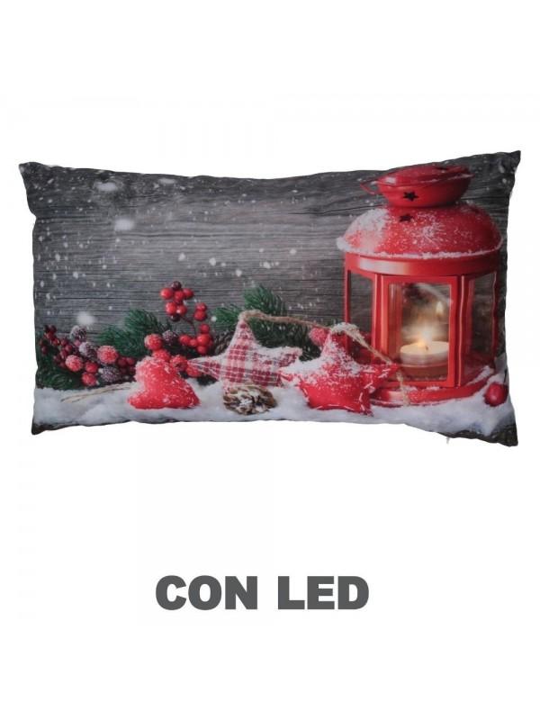 Cuscino tessuto lanterna rosso cm 30 x 50 h8
