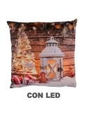 Cuscino tessuto lanterna bianco cm 40 x 40 h10