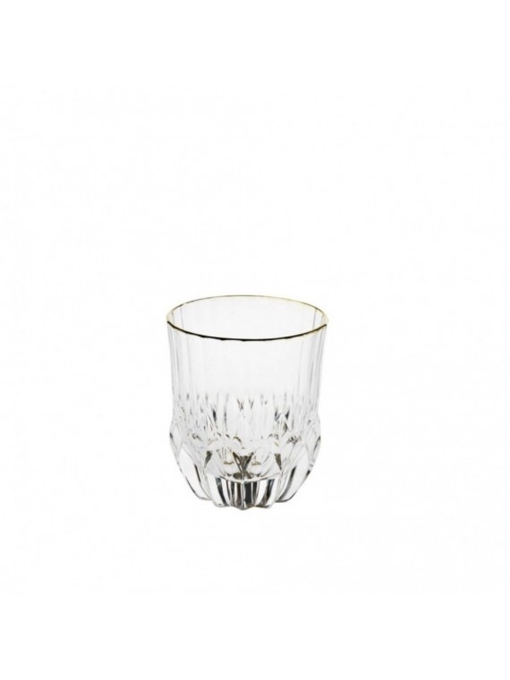BRANDANI BICCHIERE OH MY GOLD CRYSTAL GLASS