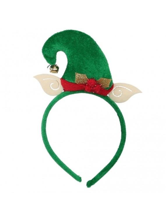 Cerchietto tessuto elfo verde cm 15 x 23 x 3