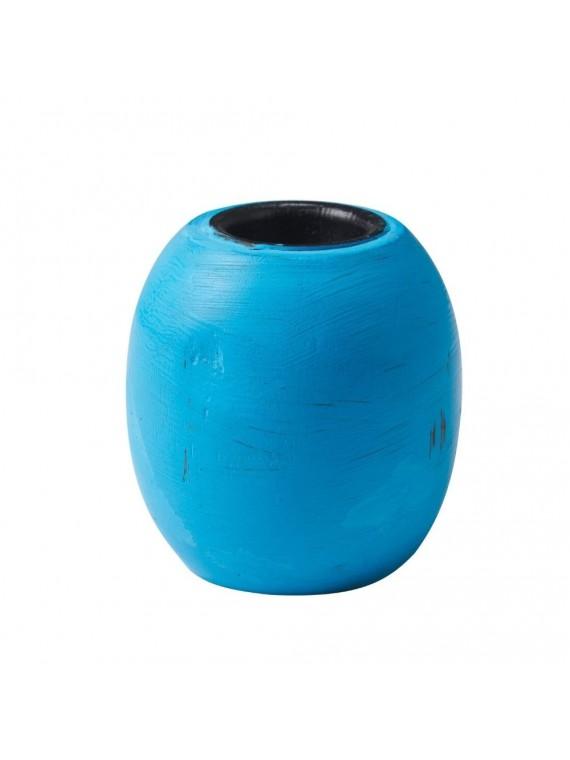 PORTA CANDELE TONDO BLUE