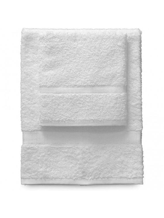 Gabel set 1 asciugamano viso e 1 ospite bianco