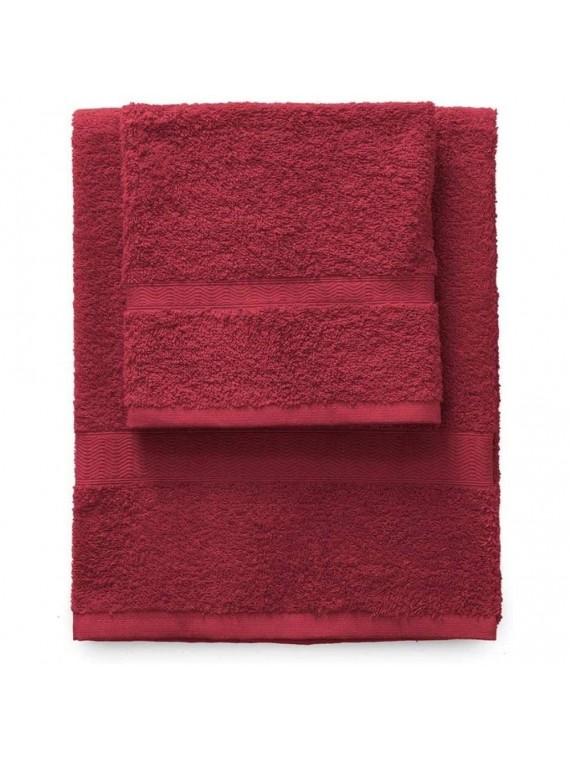 Gabel set 1 asciugamano viso 1 ospite bordaeux