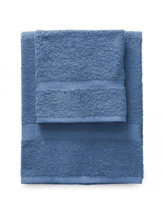 Gabel set 1 asciugamano viso 1 ospite bluette