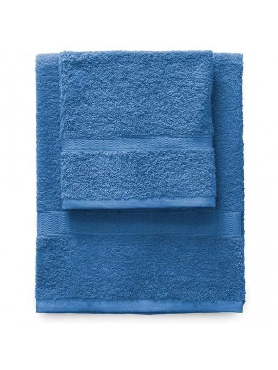 Gabel set 1 asciugamano viso 1 ospite blu elettrico
