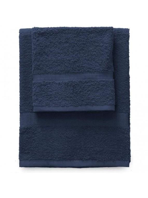 Gabel set 1 asciugamano viso e 1 ospite blu