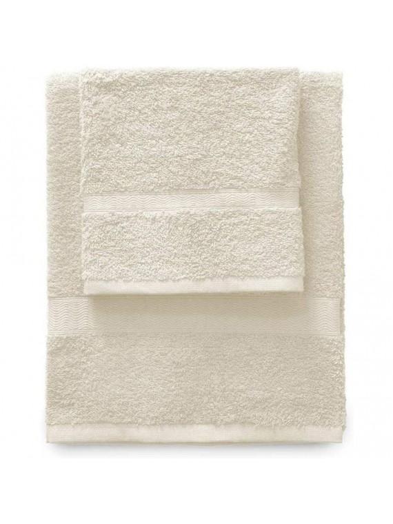 Gabel set 1 asciugamano viso 1 ospite ecru