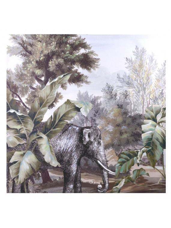 Quadro dipinto elefante cm80x80x3