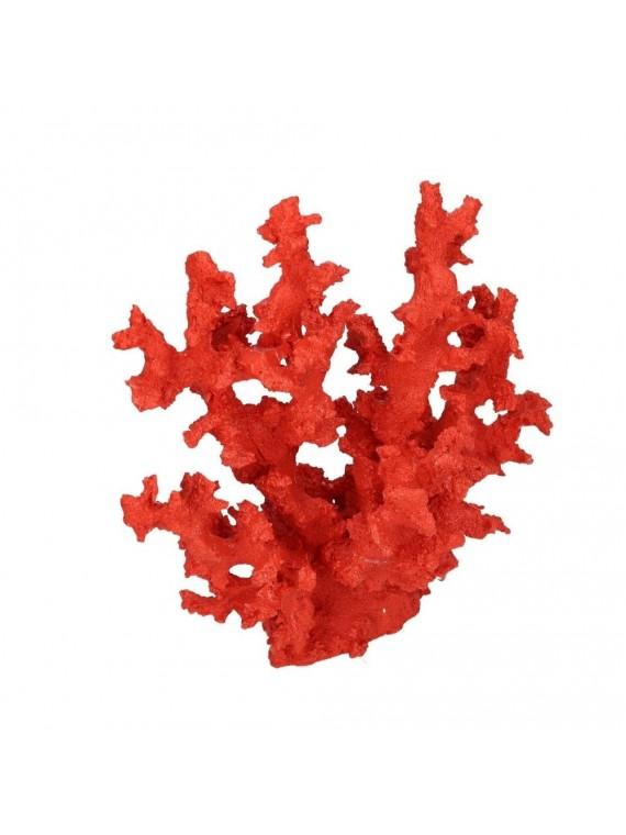Decorazione mare corallo resina rosso cm 26 5x14 h27