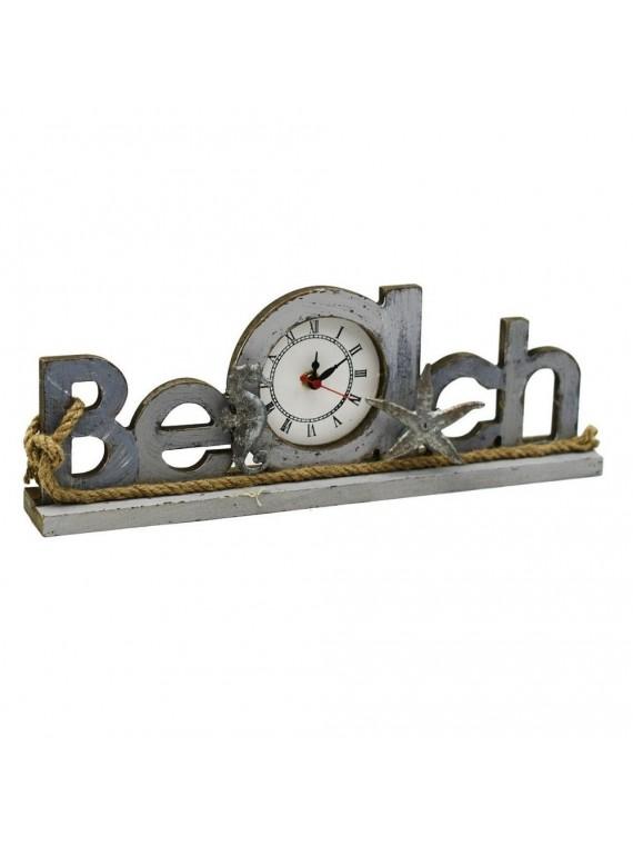 Orologio tavolo legno mare beach cm35 5x 4 5 h12