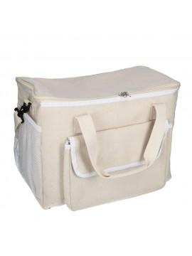 Borsa frigo crema con tasca cm42x23 h30