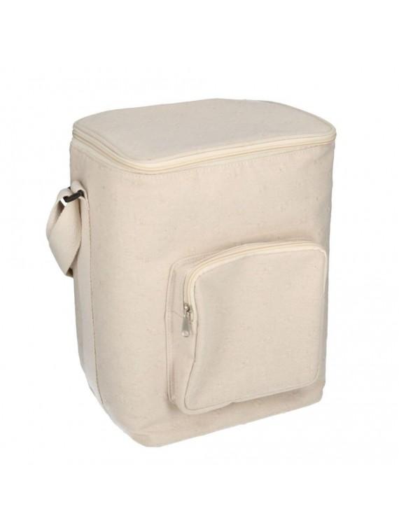 Borsa frigo crema con tasca cm24x19 h34