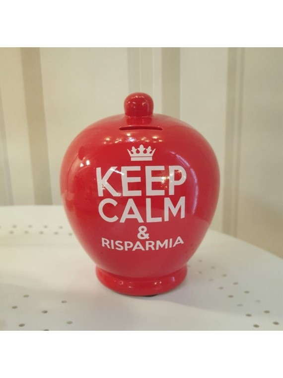 Salvadanaio keep calm e risparmia