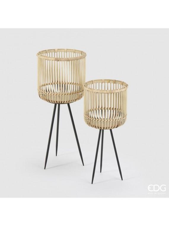 Edg cesto bamboo tripode  h65 54